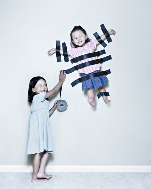 kids with tape