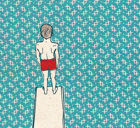 kid on a diving board