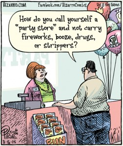 party store cartoon