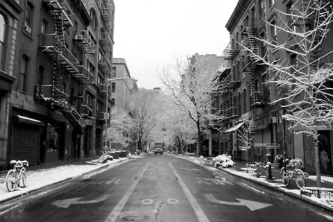 NYC early snow