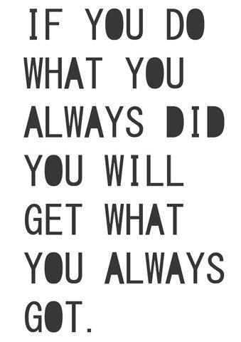 Saying - always